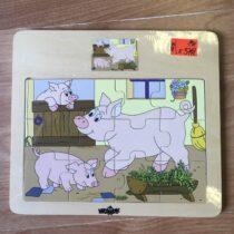 Dřevěné puzzle Woody