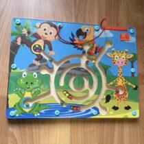 Playtive Junior Dřevěná hra magnetický labyrint