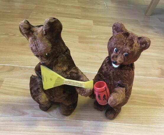 Set retro plyšových medvědů