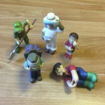 Figurky – včelař + vinař + farmář + dělník + kluk
