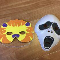Kostýmové masky, 2ks