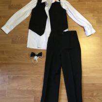 Společenský set – košile, vesta, motýlek, kalhoty