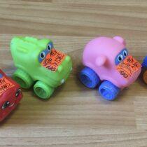 Set gumových autíček, 4ks