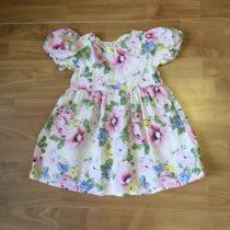 Bavlněné šaty H&M růže