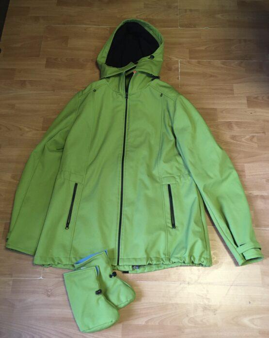 Softshellová bunda pro těhotné/nosící, XL/44/46 + capáčky