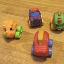 Set gumových mini autíček, 4ks