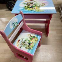 Dřevěný stoleček +židlička