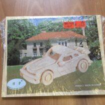 Dřevěné puzzle 3D auto
