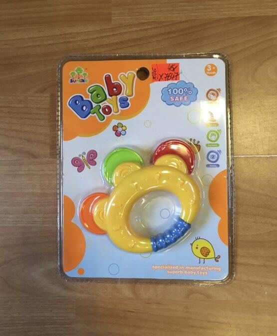 Chrastítko Baby Toys teddies – tamburínka