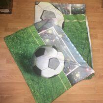 Povlečení na velkou postel – fotbal 3D