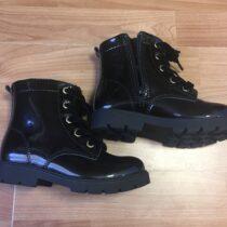 Lakové kotníkové boty H&M skožíškem